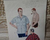 Butterick 50's Vintage Mens Shirt Pattern