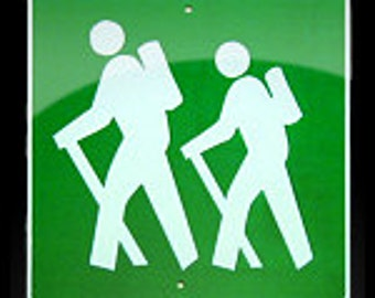 Metal MINI Hiker traffic  sign     Free Shipping