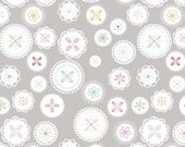 Polka Dot Stitches fabric by Lori Holt for Riley Blake Designs, Polka Dot Dolly in Gray-Fat Quarter