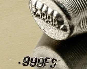 teeny tiny Design Stamp - .999FS - 2mm stamped image by ImpressArt -  includes How to Stamp Metal tutorial