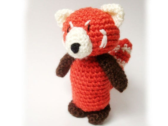 Amigurumi Free Patterns Pokemon : Amigurumi Red Panda Pattern
