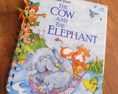 Little Golden Book Cow and Elephant Recycled Journal Notebook