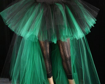 Adult tutu skirt two tone bustle Wedding Formal extra poofy trail gothic bridal dance prom costume -- You Choose Size -- Sisters of the Moon