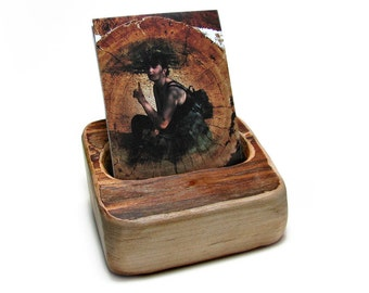 Back To Nature - Organic Natural Maple Rustic Smartphone Holder Deck Stand by Tanja Sova