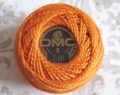 DMC Pearl Cotton Balls Size 5 - 740 Tangerine Orange