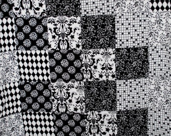 Black and White Throw / Toddler Quilt
