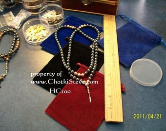 Hematite & Copper 100 bead Chotki, Orthodox Christian prayer beads - Free drawstring gift pouch and Jesus prayer card - FREE SHIPPING in USA