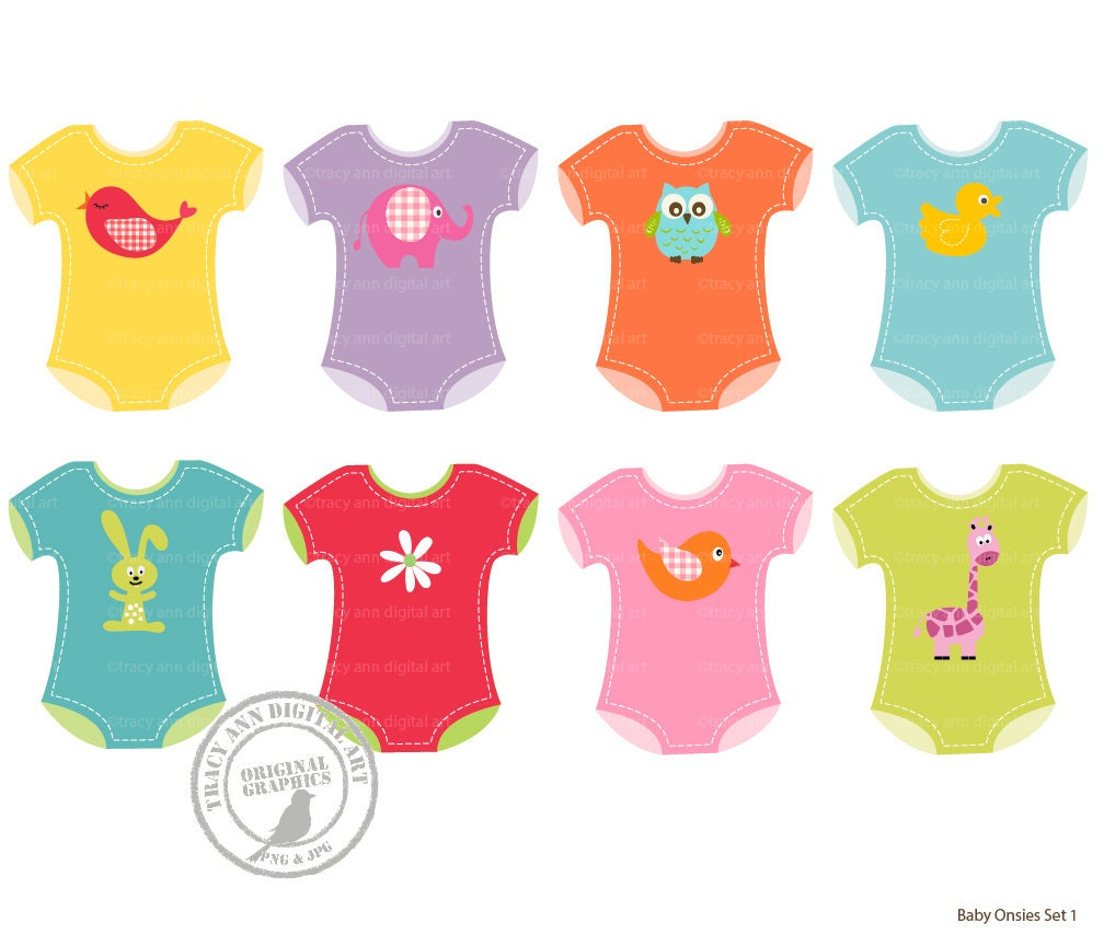 baby girl onsie clip art baby clothes clip by tracyanndigitalart