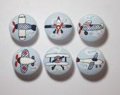 Airplane plane nursery (1) decor hand painted drawer pull knob knob transportation