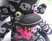 Pretty Skull Sock Monkey