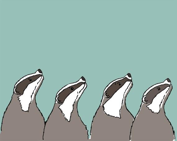 badger art print: word is spreading