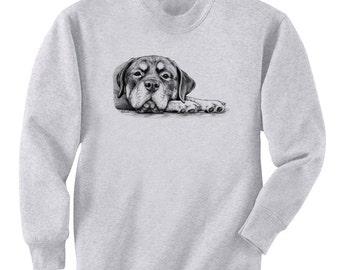 Rottie On Paws Rottweiler Dog Art Men's Sweatshirt Small - 2XL