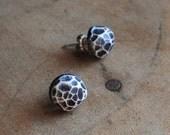 Fragment post earrings in white