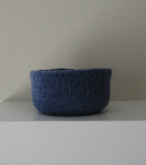 Felted Bowl in Blueberry - In Stock - Ready to Ship