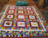 Brown Bear Cot Quilt with Pillow and Pillow Case for Toddlers or Pre-Schoolers With or Without Board Book