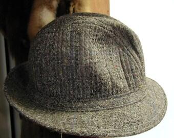 Vintage Tweed Fedora Hat