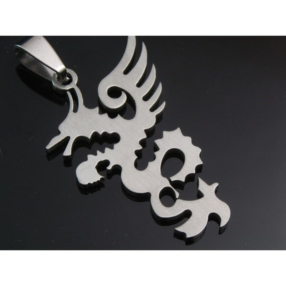 1pcs stainless steel pendant- A dragon