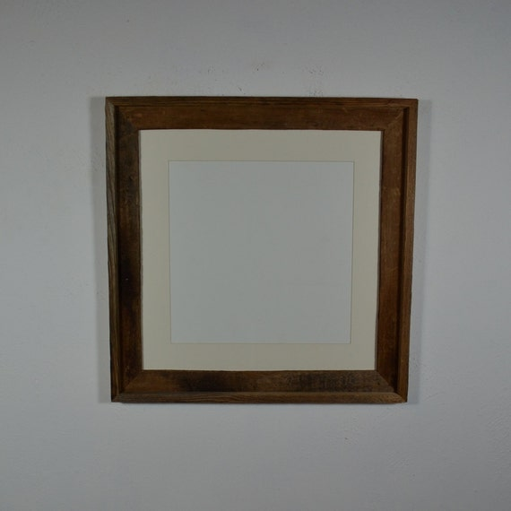 16x16 Wall Frame Brown With White 12x12 Mat