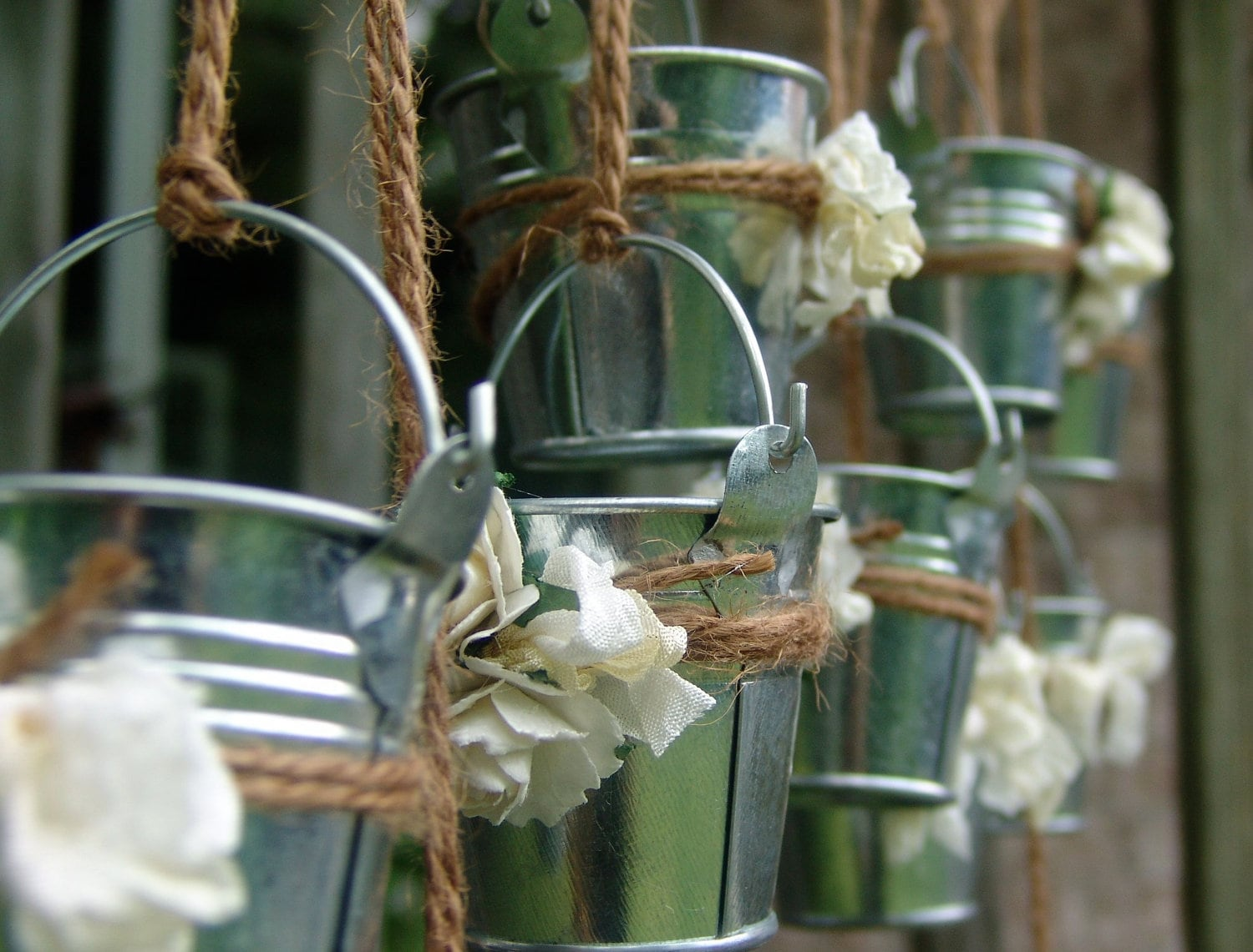 Rustic Wedding Favors Mini Galvanized Pails Shabby By