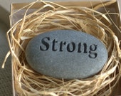 Gift for family, friend, co worker, or party guest... - Custom Engraved Pocket Stones set of 6 -  by sjEngraving