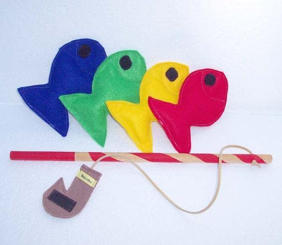 Felt Fishing Game Montessori Toy Fishing Game Sport Fishing - READY MADE