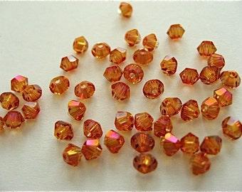 48 Astral Pink Swarovski Crystal Beads Bicone 5328 3mm