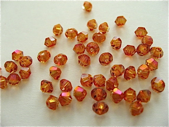 48 Astral Pink Swarovski Crystal Beads Bicone 5328 3mm