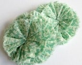 Minty Green Ruffle Blossoms - Fabric Flower Embellishments