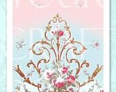 French Wallpaper - Digital Download - U PRINT - Antique - Collage Sheet - Scrapbooking - Fabric Transfer 23PAPER