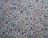 "Liberty Tana Lawn Fabric - FLOWERY MEADOW (Blue/Red) 6"" Long  x 28"" Wide (15 x 71 cms)"