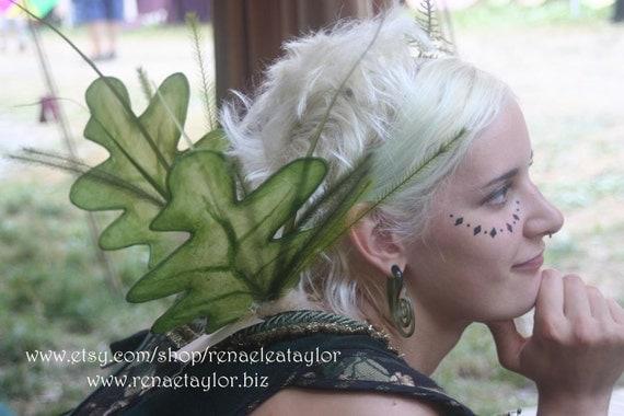 Green Oak  Sprigy Wings by Renae Taylor
