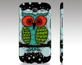 OWL Samsung Galaxy S3 S4 Case Cover Barely There SnapOn blue green red black