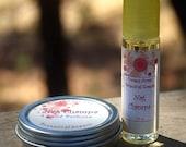 Nag Champa Natural Perfume Set, Roll On Perfume, Solid Perfume