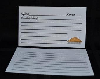 CUSTOM Recipe Cards, Pie