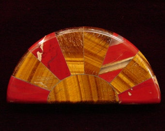Red River Jasper and Tiger-Eye Inlay