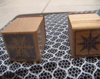 Snowflake Rubber Stamp Set