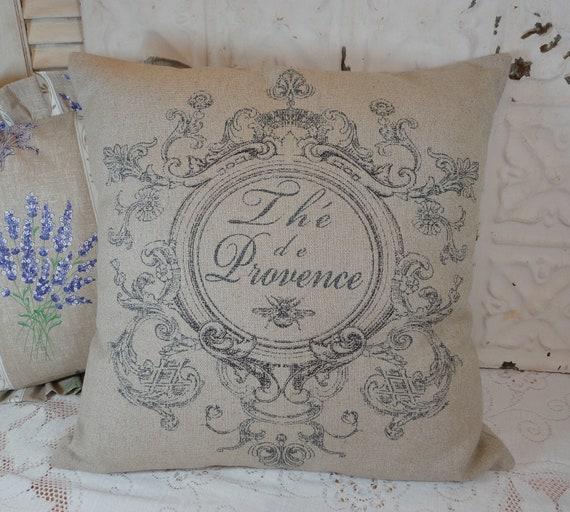The' De Provence Cottage Chic 18 Inch French Country French Laundry Cottage Pillow