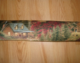 """Door Draft Stopper Filled with Fragrant Balsam - Standard 2"""" X 38"""" - Rustic Cabin - Made in USA"""