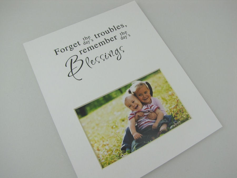 Forget The Day S Trouble 8 X 10 Designer Photo Mat Design
