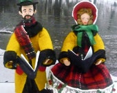 Dickens Carolers Miniature Dolls Collectible Art