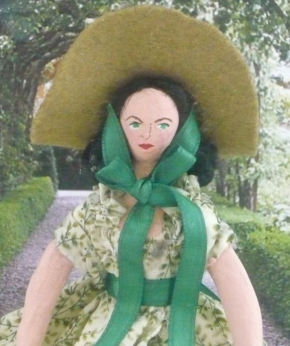 Scarlett O' Hara Doll Miniature Gone With the Wind Art Collectible