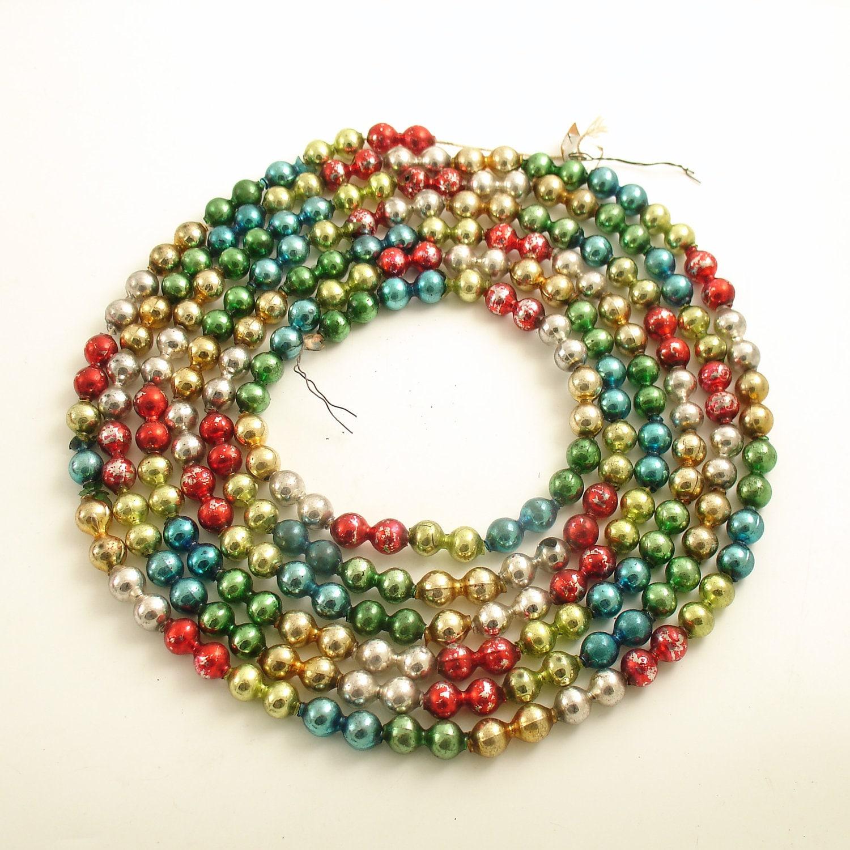 Vintage glass bead garland christmas