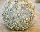 Deposit on heirloom rich pearl brooch bridal bouquet - made to order