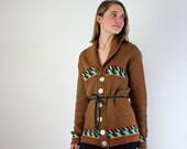 Tribal Sweater - 1970s Southwestern Cardigan