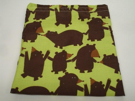 Bears Reusable Sandwich Bag