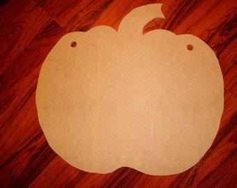 Unfinished Pumpkin Shape 20x21 Inches Sign Mosaic Base Craft Shape