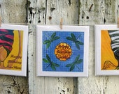 SunShine - Set of 3 cards - Greeting cards, notecards, any occasion - Blank inside