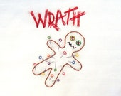 Wrath Voodoo Doll Hand Embroidery Pattern PDF: Seven Deadly Sins Collection