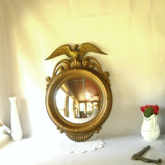 Vintage Mirror Eagle Convex Mirror Federal Style Americana