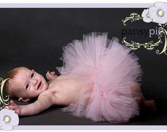 Rosette Tutu Dress Light Pink Tutu Skirt Infant Girl Tutu Dresses Newborn Tutu Dress  3 6 Month